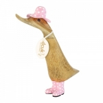 Duckling Hat/Boots pink 18cm image