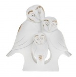 JD65585 White Wood Owl Family  image